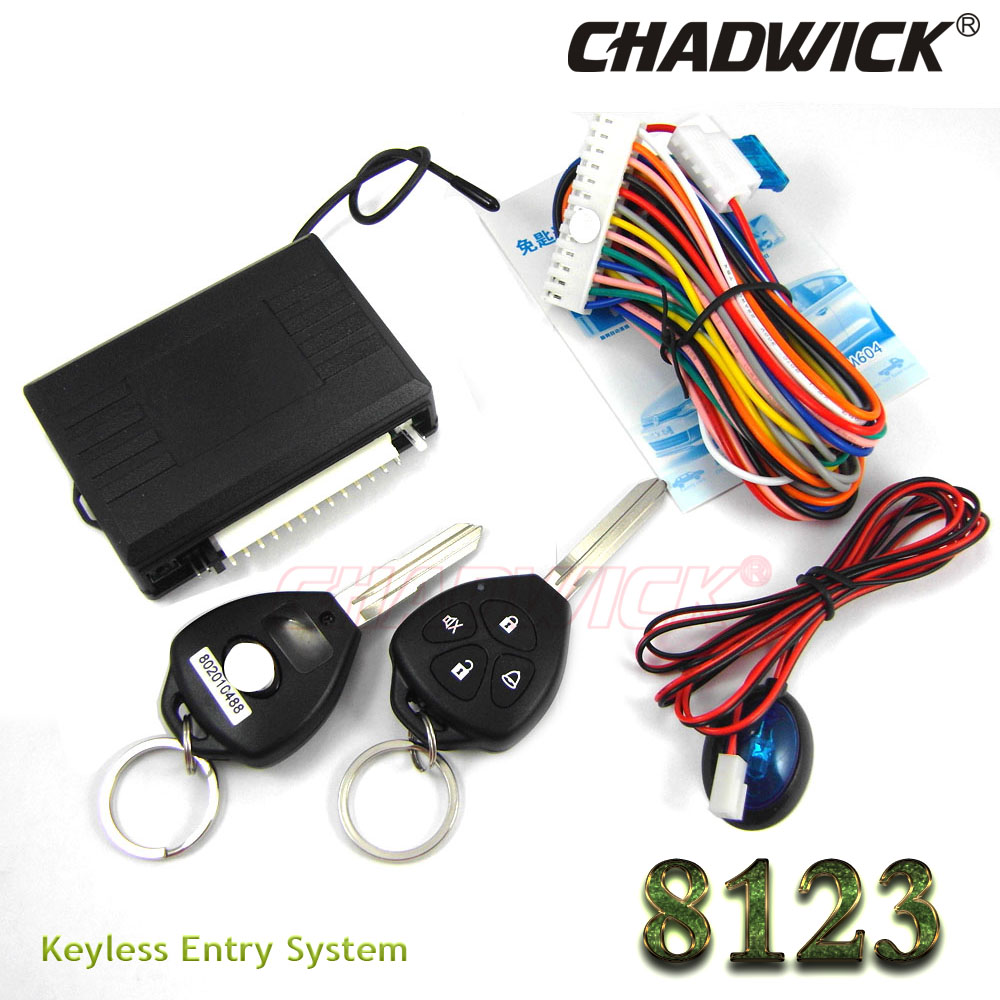 car keys remote blank key Keyless Entry System for Toyota car 12V Central lock Locking system foot brake locking CHADWICK 8123 flip key remote keyless entry system for hyundai car 12v central lock locking system with led indicator chadwick 8118 car alarm