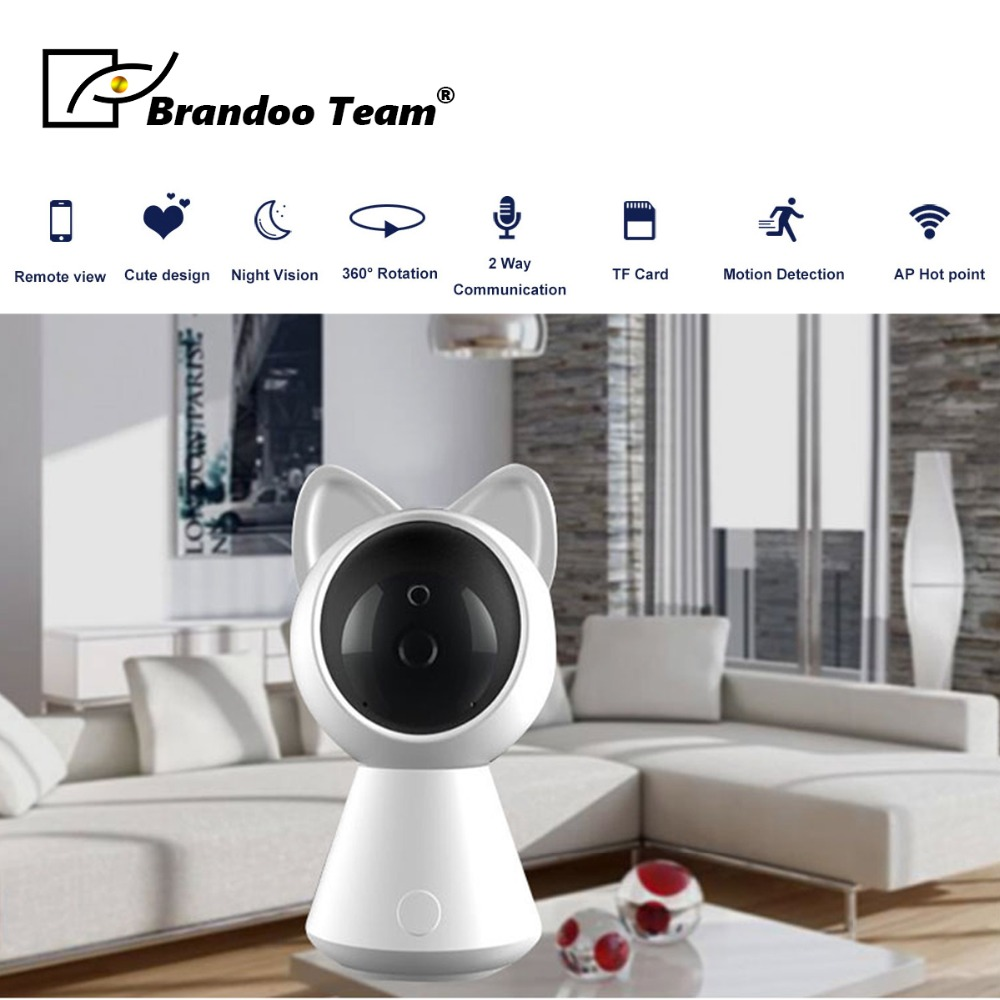 IP Camera Wifi 1080P Wireless Wired P2P CCTV Home Camera With Micro SD Card Slot Max 128GB