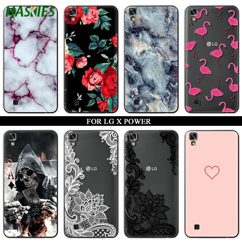 Case For LG X Power K210 K220 Case for K220ds Silicone Ultra Thin Soft TPU Rubber Transparent Clear Back Cartoon Print Cover