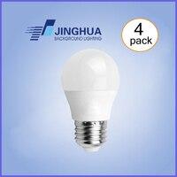 LED Light Bulb 5 W, 4 W, 6 W, A15 Lâmpada, G45 Bulbo Forma, E26 Base de Médio, 3000 K Branco Morno, Luz Do Dia Branca 5000 K Regulável (Pack of 4)