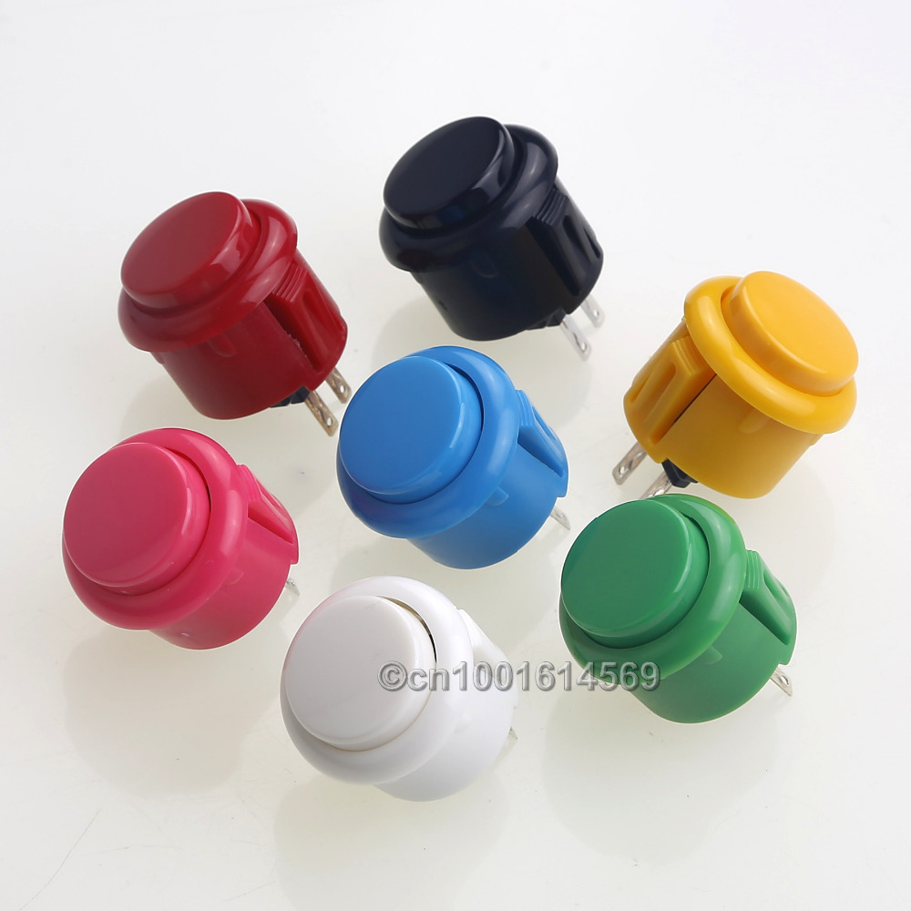 20pcs Copy Sanwa 24mm OBSF-24 Button Push Button Switch High Quality Push Button For DIY Arcade Game Machine & Raspberry Pi 3 3B