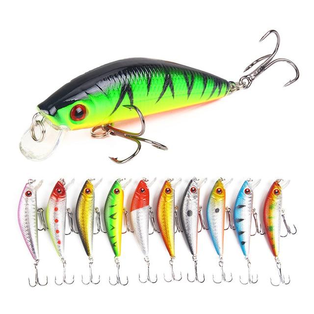 1 Pcs Fishing Lure Minnow 7cm 8g Crankbait Hard Bait Tight Wobble Slow sinking Jerkbait Pesca Fishing Tackle Accessories 2