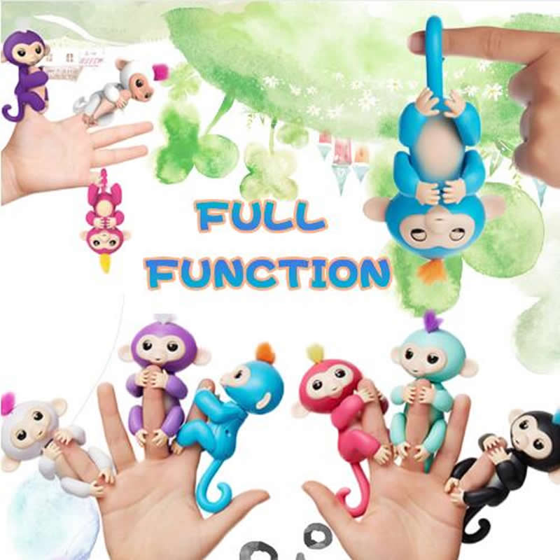 happy monkey pack Finger baby Monkey Rose Interactive Baby Pet Intelligent Toy Tip Monkey Smart Electronic Pet finger monkey creative dump monkey falling toy tumbling monkeys party