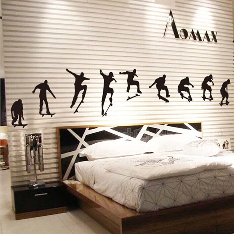 Extreme Sports Skateboard DIY Wall Stickers For Kids