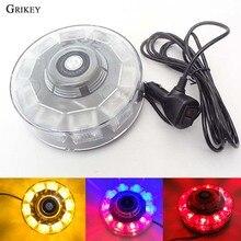 10 LED Round Strobe Light Car External Light 7 Model Magnetic Warning Flashing Light Hazard Police Lamp