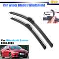 For 2008-2015 Mitsubishi Lancer Car Front Windscreen Wiper Blades Soft Rubber Windshield Frameless