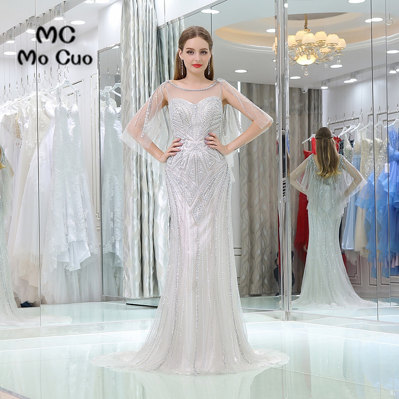 Luxuries 2017 New   Prom     dresses   with Heavy Crystals long graduation   dresses   Backless Mermaid Bling Evening   Prom     Dress   Custom Made