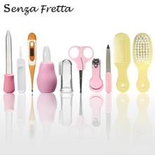 10pcs/set Newborn Baby Care Thermometer Nail Scissors Dropper Comb Baby Gift Box Maternal Baby Care Kit Senza Fretta KS0444