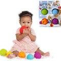 4 Bola Brinquedos Do Bebê Souding Pçs/set Colorido Multivariante Fácil Aderência das Crianças Mão Pego Aprendendo Agarrar Crianças Favor Do Presente