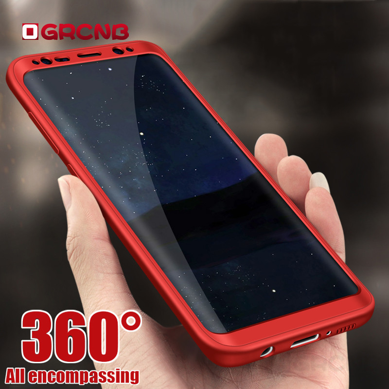 Soft Silicone 360 Omnibearing Protected Case For Samsung Galaxy S7 S7 Edge Note8 Case Full Cover For Samsung S8 Plus Phone Case