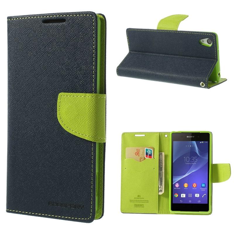 US $8 99 |For Sony Xperia Z2 Case Mercury GOOSPERY Fancy Diary Wallet Style  Leather Flip Case for Sony Xperia Z2 D6502 D6503 D6504-in Wallet Cases