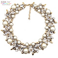 2017 Z fashion necklace collar Necklaces & Pendants crystal costume statement necklace choker simulated pearl pendant Necklaces