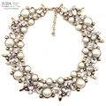 2017 z moda colares colar colar & pingentes de cristal traje colar declaração choker simulado pearl pendant colares