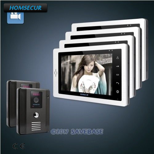HOMSECUR Wired Hands-free Color Door Phone Intercom System with 700TVL HD CMOS Camera+7 TFT Color Screen