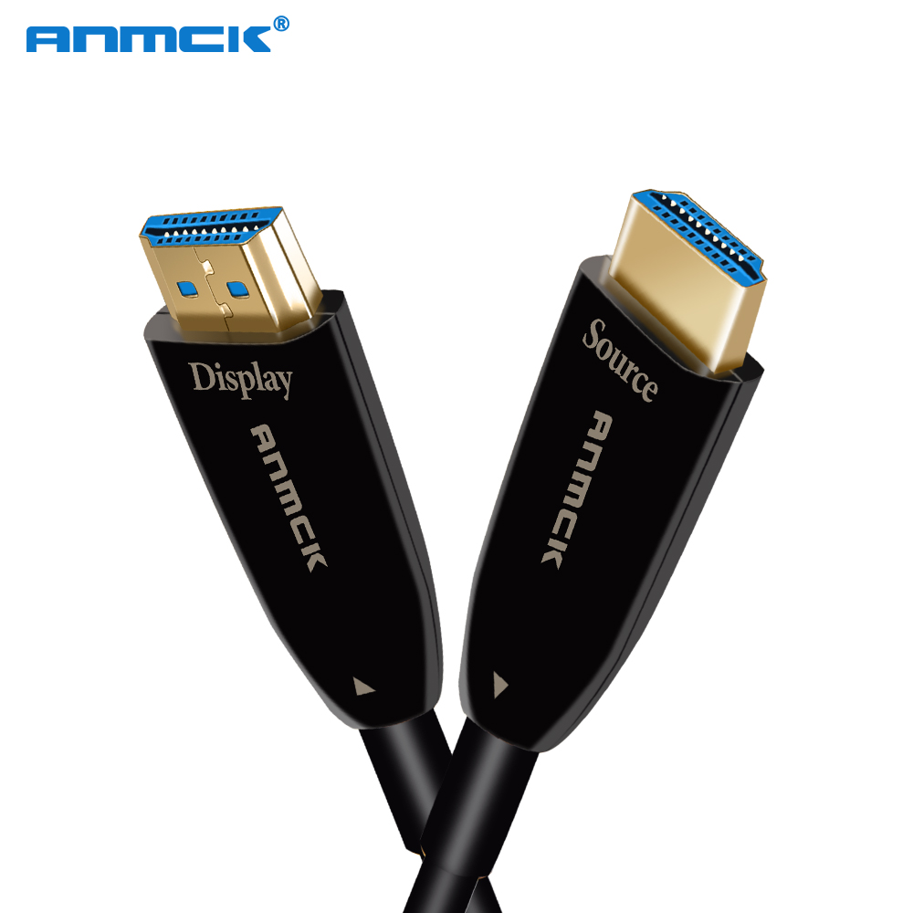Anmck 2K 4K HDMI Optical Fiber Cable 60Hz 2 0 18Gbps Zinc Alloy Shell 2m 5m