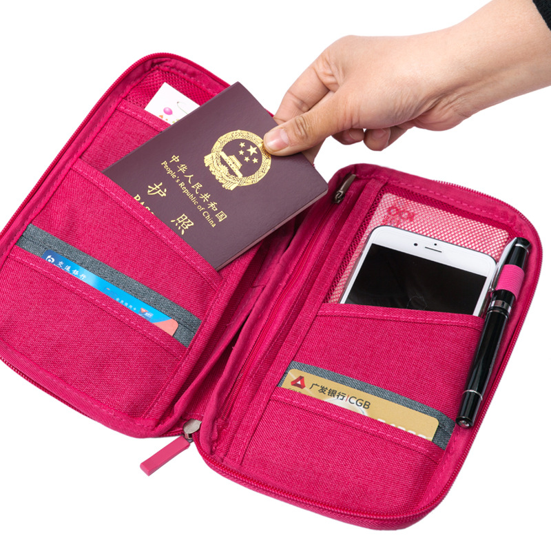 c33fa143bde0 US $5.73 21% OFF|Women Travel Organizer Passport Holder Card Package Credit  Card Holder Wallet Document Package Fashion Multi Pockets Card Pack-in ...