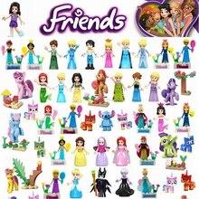 Legoing друзья фигурки фильмы принцесса Русалка Анна Белль Совместимость Legoing друг фигурка строительные блоки детские игрушки Juguetes
