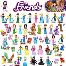 Vrienden Donald Duck Mickey Mouse Movie Prinses Mermaid Anna Belle Compatibel Cijfers Bouwstenen Kinderen Speelgoed Legoingly Vriend(China)