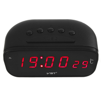 CARGOOL Car Dashboard LED Display   Clock   Digital Alarm   Clocks   Electronic Car Alarm   Clock   with Thermometer Red Digits