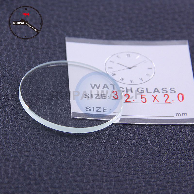 Wholesale 6pcs/lot 30mm To 32.5 Mm Assort Size Watch Glass Crystal 2mm Thickness Flat Watch Glass