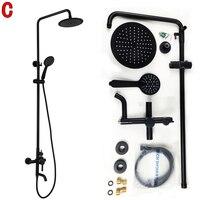 Dofaso Shower Faucet Black Soild Brass Oil Rubbed Bronze Shower Faucet Black Shower Set Dual Handle