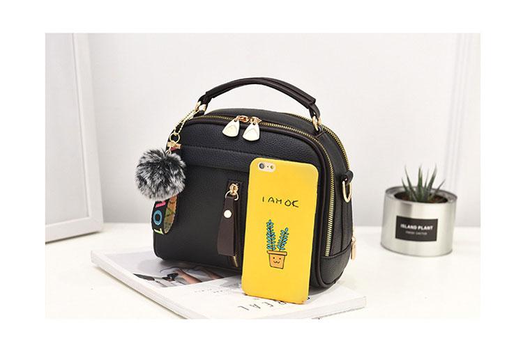 Fashion Women Handbag PU Leather Women Messenger Bags With Ball Toy Female Shoulder Bags Ladies Party Handbags 2019 4