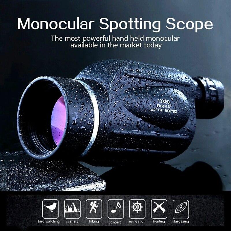 GOMU 13x50 distance meter type monocular rangefinder binoculars waterproof telescope outdoor binoculo 114m 1000m