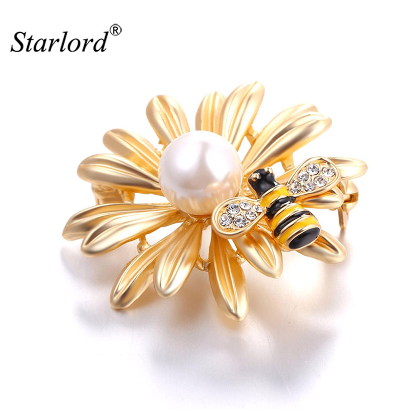 Aliexpress Com Buy Elegant Daisy Flower Brooch With