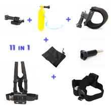 For Gopro Hero three four Chest Head Hand Mount Strap Floating Bobber Monopod For Go professional hero3 Sj 4000 Black Version
