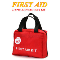 230 Pieces Outdoor Wilderness Survival Medical Treatment Pack Set Safurance First Aid kit Emergency Set Kit
