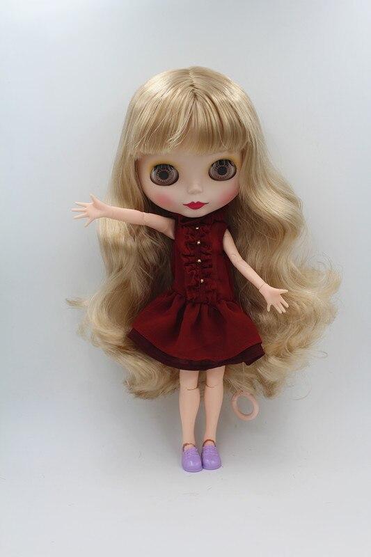 Blygirl Doll Light golden flequillo pelo Blythe conjunta cuerpo Doll - Muñecas y accesorios - foto 2