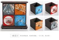 1PC Zakka retro wooden table jewelry box with drawer type storage box J0927
