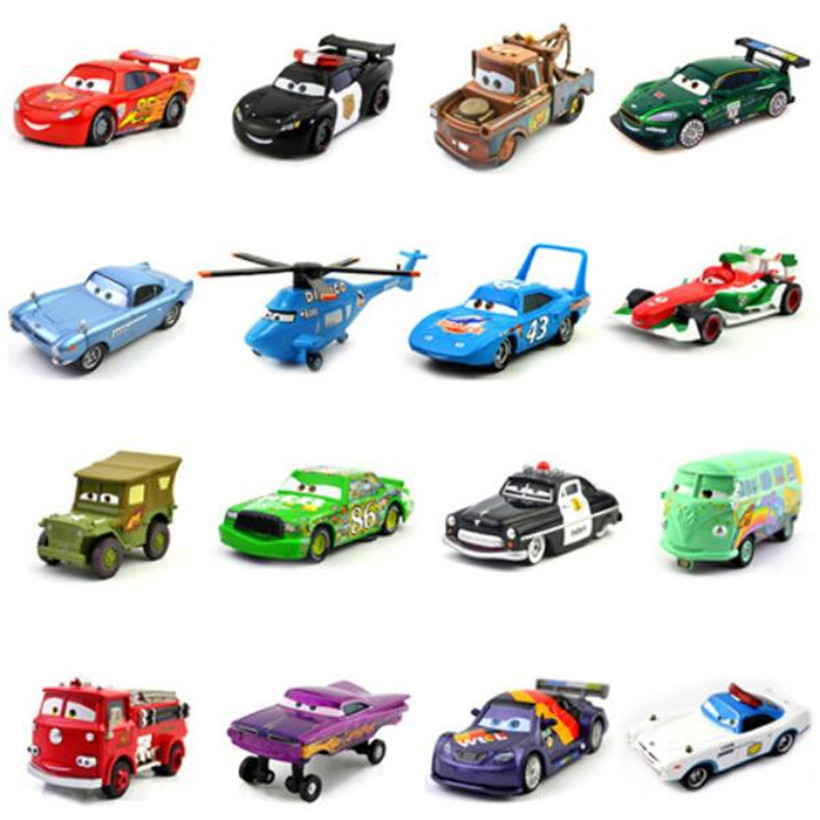 35 Styles Cars Disney Pixar Cars 2 & Cars 3 Lightning McQueen Racing Family 1:55 Metal Alloy Diecast Toy Car For Kids