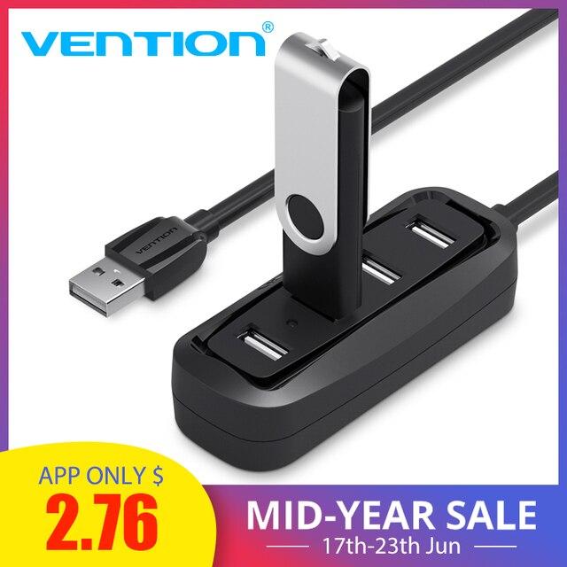 Chính hãng Vention USB HUB 4 Cổng 2.0 Di Động OTG HUB 480 Mbps Bộ Chia USB có Đèn LED cho Laptop Apple MacBook MÁY TÍNH Máy Tính Bảng USB 2.0
