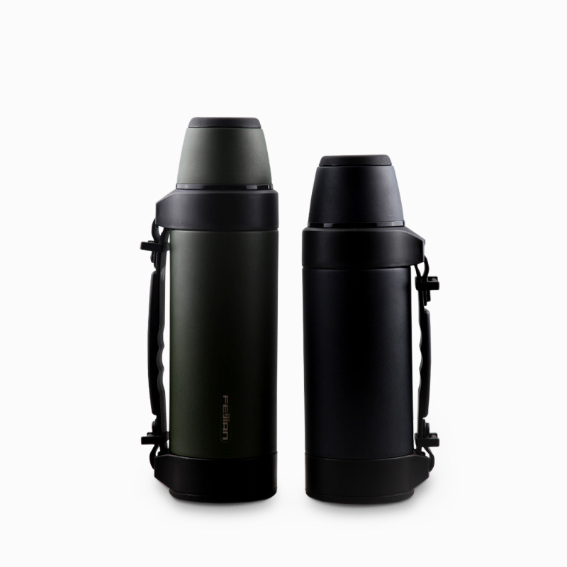 Feijian Thermos Super Vacuum Insulated Water Bottle Double
