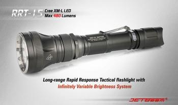 Free Shipping NITECORE RRT15 CREE XML T6 LED Flashlight Without CR123 Battery Aluminum Waterproof Tactical Torch Hunting JETBEAM