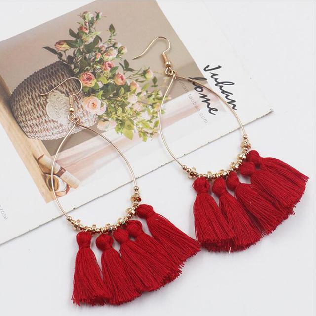 Vintage Round Tassel Earrings