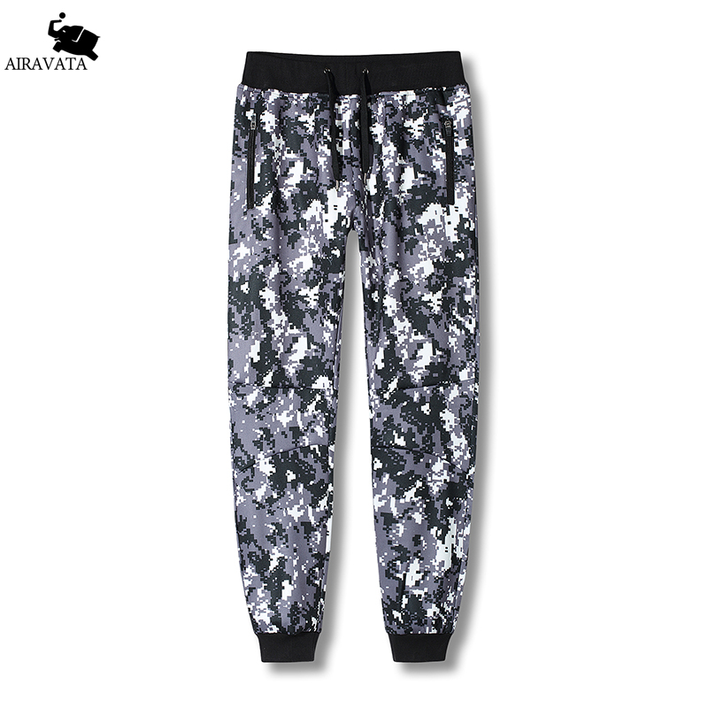 Mens Sweatpants Fashion Elastic Waist Pans Zipper Side Pockets Printed Streetwear Sweatpants Camouflage Printed Mens Pants ...