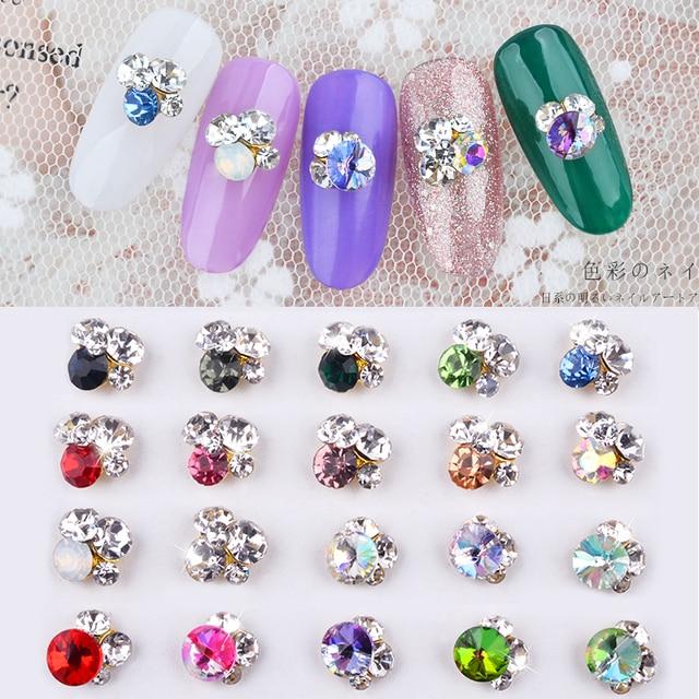 10pc Different Gradient Chameleon Crystal Diamond Lot Nail Art Decorations  3d Manicure UV Gel DIY Jewelry 93548fe52490