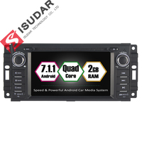 Android 7 1 1 2 Din 6 2 Inch Car DVD Player For Jeep Wrangler Patriot