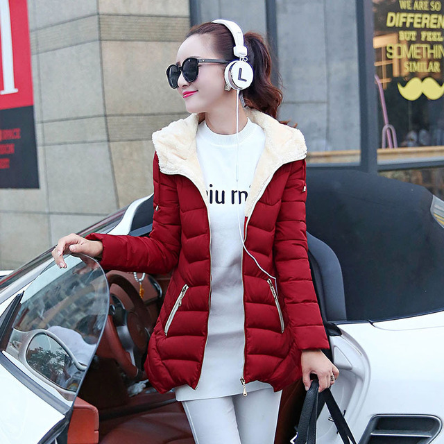 2016 New Winter Jacket Women Hooded Cotton-Padded Jacket Winter Medium-Long Cotton Coat Plus Size Female Slim Ladies Jacket Coat