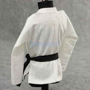 Image 5 - 1/6 escala judo gi uniforme branco kung fu terno calças jaqueta para 12 polegada figura de ação masculina dragão