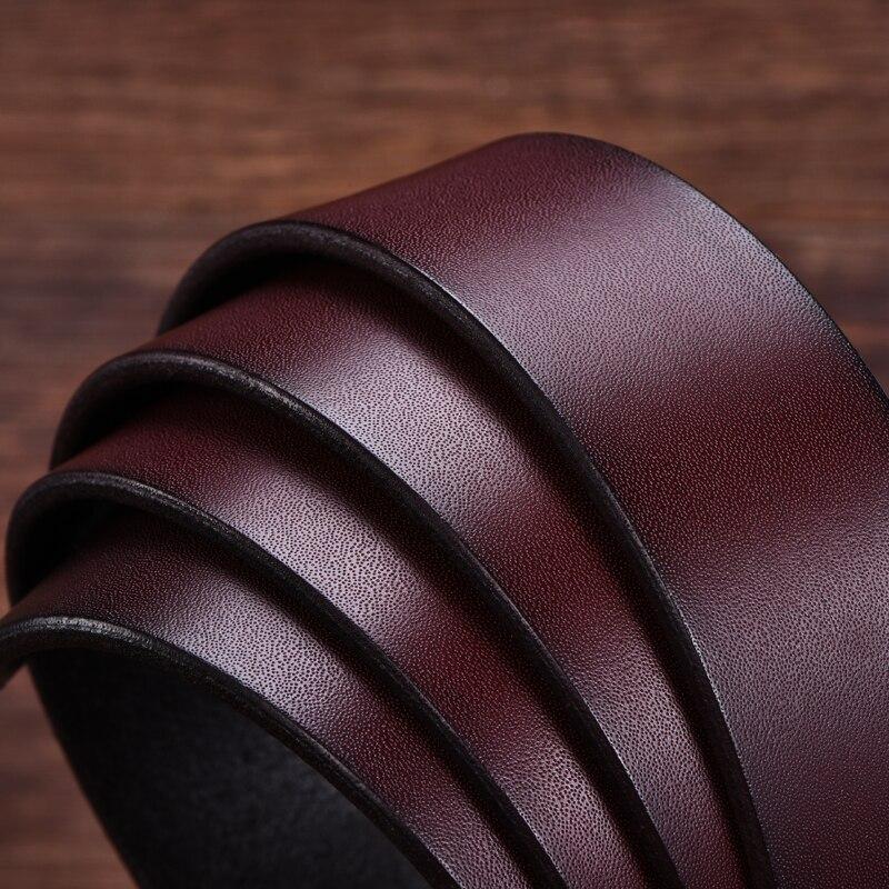 DINISITON karvės odos odos dizainerio diržai vyrams aukštos - Drabužių priedai - Nuotrauka 5