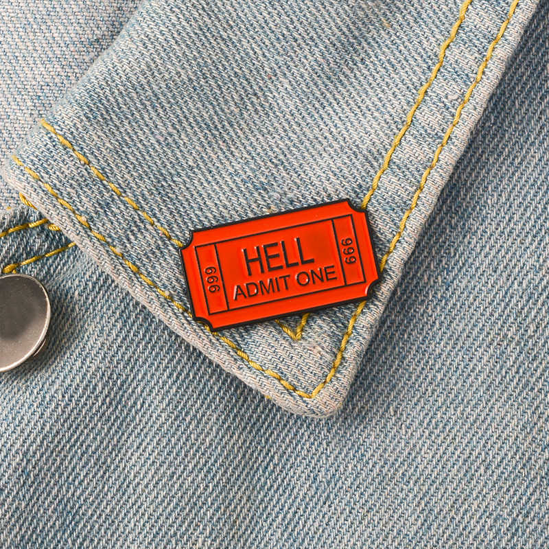 Punk Collectie Emaille Pins Donkere Zwarte Broche Plague Arts Hart Wijn Hel Badge Denim Shirt Revers Pin Gothic Sieraden Gift