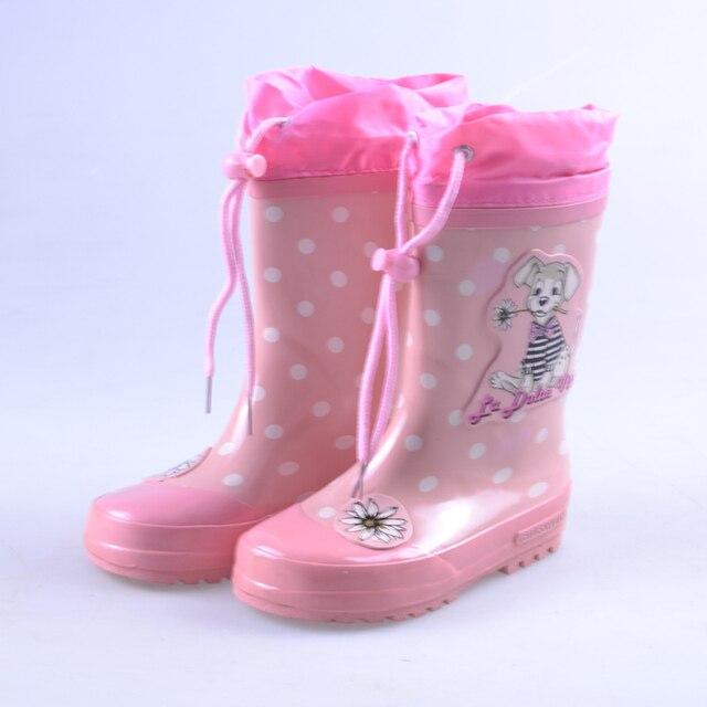 VICVIK brand Baby Moccasins Children Pink Rain Boots Girls Fashion Kids Cartoon Printing Spring Autumn Water Shoes 7063