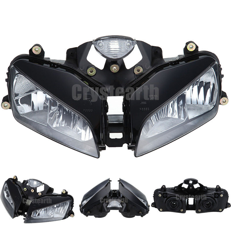 Motorcycle Front Headlight For Honda CBR600RR F5 2003 2004 2005 2006 CBR 600RR 600 RR 03-06 Headlamp Lighting Lamp Assembly Kit front headlight headlamp head light lamp upper stay bracket fairing cowling for honda cbr600rr cbr 600 rr 2003 2004 2005 2006