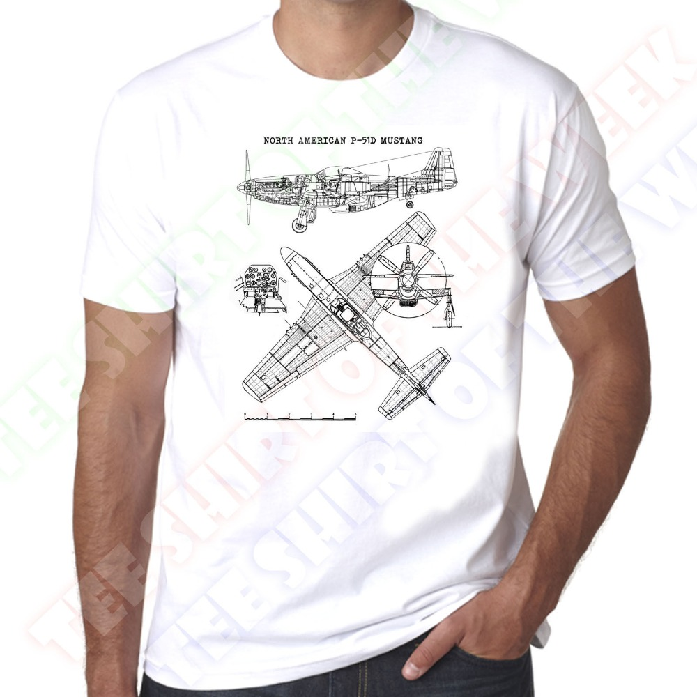Mens T <font><b>Shirts</b></font> Fashion 2019 North American P-51 Mustang WW2 Allies Fighter <font><b>USAF</b></font> Mens 100% cotton t <font><b>shirt</b></font> T <font><b>Shirts</b></font> image