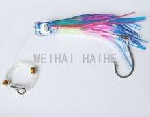 6.5″ Rigged Trolling double Skirt Fishing Soft Lure Big Game Marlin Tuna Lure