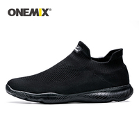 ONEMIX Running Shoes For Men 2019 Summer New Sports Shoes Mesh Breathable Socks Shoes Outdoor Jogging Walking Shoes Black Unisex