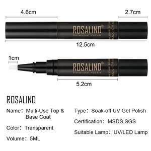 Image 5 - ROSALIND 5ml oje kalem gerekir UV LED lamba ile tedavi emmek off beyaz renk nal sanat jel cila